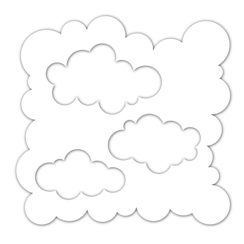 Simon Says Stencils CLOUDS FOR DAYS ssst121423 Sending Sunshine Preview Image