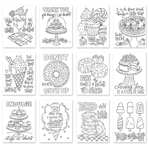 Simon Says Stamp Suzy's SWEET TREATS Watercolor Prints