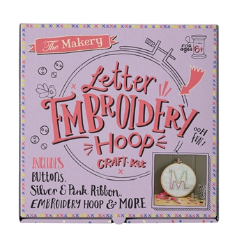Crafter's Companion LETTER EMBROIDERY HOOP CRAFT KIT The Makery make-012