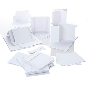 Crafter's Companion WHITE FANCY CUT CARD BLANKS Die'sire ds-crdkit-wht