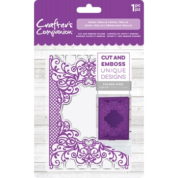 Crafter's Companion ROYAL TRELLIS Cut And Emboss Folder cc-cef-rtr