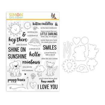 Simon Says Stamps And Dies HEY THERE SUNSHINE set320hts Sending Sunshine