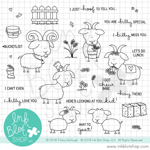 Ink Blot Shop Clear Stamp Set BILLY SILLY GOATS inbl041 Preview Image