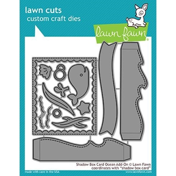 Lawn Fawn SHADOW BOX CARD OCEAN ADD ON Die Cuts LF1705