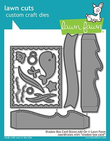 Lawn Fawn SHADOW BOX CARD OCEAN ADD ON Die Cuts LF1705 zoom image