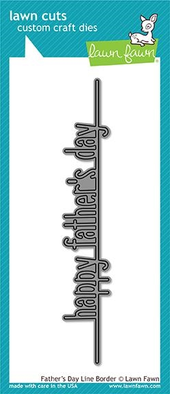 Lawn Fawn FATHER'S DAY LINE BORDER Die Cut LF1708 zoom image