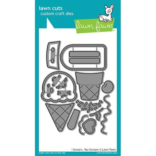 Lawn Fawn I SCREAM YOU SCREAM Die Cuts LF1713 Preview Image