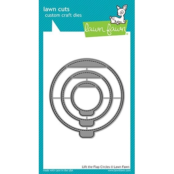 Lawn Fawn LIFT THE FLAP CIRCLES Die Cuts LF1714