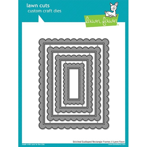 Lawn Fawn STITCHED SCALLOPED RECTANGLE FRAMES Die Cuts LF1719 Preview Image