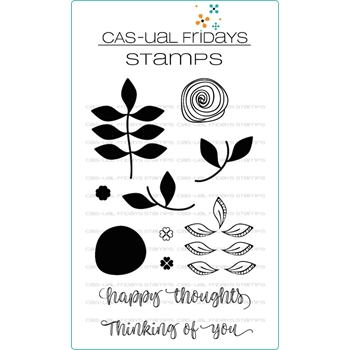 CAS-ual Fridays PEACEFUL GARDEN Clear Stamps CFS1813