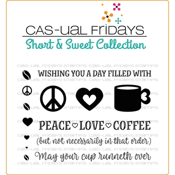 CAS-ual Fridays PEACE LOVE COFFEE Clear Stamps SS1702