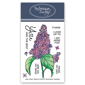 Technique Tuesday LILAC Clear Stamps 02625