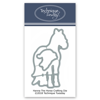 Technique Tuesday HANNA THE HORSE Crafting DIY Steel Dies 02680
