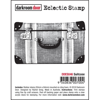 Darkroom Door Cling SUITCASE Eclectic Stamp ddes046