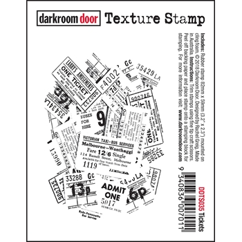 Darkroom Door Cling TICKETS Texture Stamp ddts035