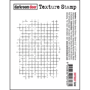 Darkroom Door Cling GRID Texture Stamp ddts037