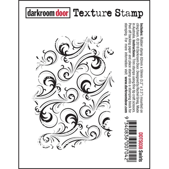 Darkroom Door Cling SWIRLS Texture Stamp ddts038
