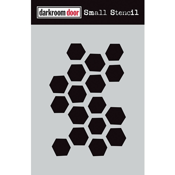 Darkroom Door ARTY HEXAGONS Small Stencil ddss018
