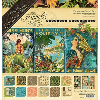 Graphic 45 TROPICAL TRAVELOGUE 12 x 12 Deluxe Collector's Edition 4501723