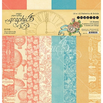 Graphic 45 IMAGINE 12 x 12 Patterns & Solids Paper Pad 4501718