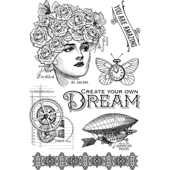 Graphic 45 IMAGINE DREAM Clear Stamp Set 4501706