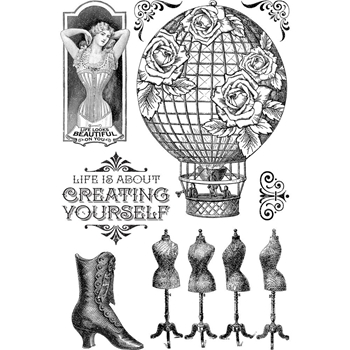 Graphic 45 IMAGINE CREATE YOURSELF Clear Stamp Set 4501707