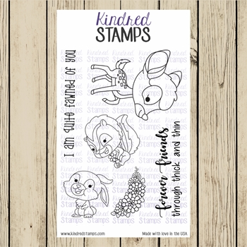 Kindred Stamps FOREST FRIENDS Clear Stamp Set ks9708