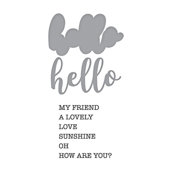 SDS-155 Spellbinders HELLO EXPRESSIONS Cling Stamp and Die Set