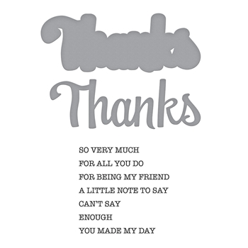 SDS-151 Spellbinders THANKS EXPRESSIONS Cling Stamp and Die Set