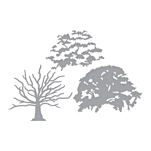 S6-149 Spellbinders LAYERED OAK TREE Etched Dies  Preview Image