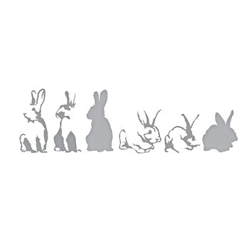 S6-148 Spellbinders LAYERED RABBITS Etched Dies