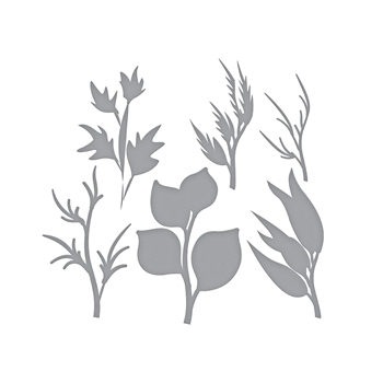 S5-361 Spellbinders LAYERED FOLIAGE Etched Dies