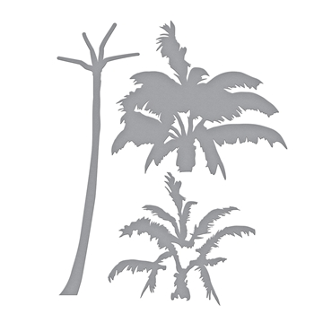 S4-922 Spellbinders LAYERED PALM TREE Etched Dies