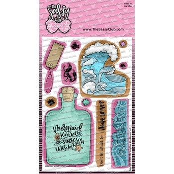 The Sassy Club MAKING WAVES Clear Stamps tscl150