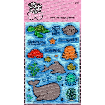The Sassy Club SEA CREATURES Clear Stamps tscl151