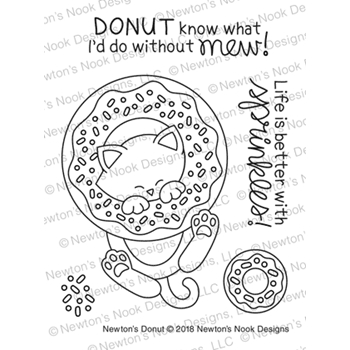 Newton's Nook Designs NEWTON'S DONUT Clear Stamp Set NN1805S05