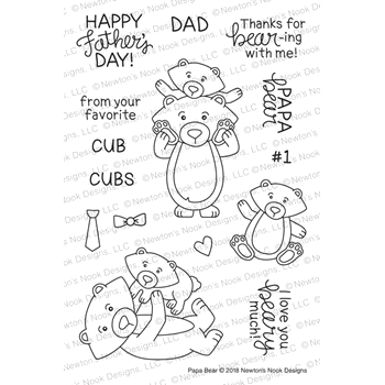 Newton's Nook Designs PAPA BEAR Clear Stamps NN1805S04