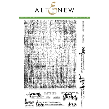 Altenew RUSTIC LINEN Clear Stamps ALT2269