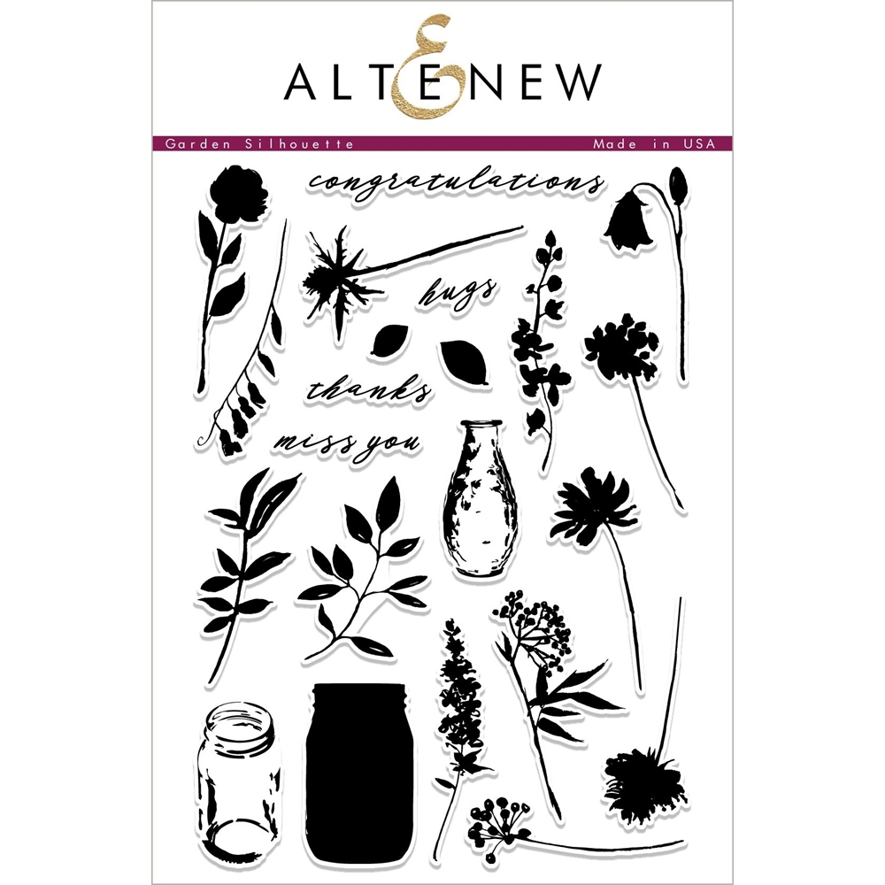 Altenew GARDEN SILHOUETTE Clear Stamps ALT2265 zoom image