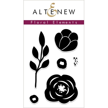 Altenew FLORAL ELEMENTS Clear Stamps ALT2263