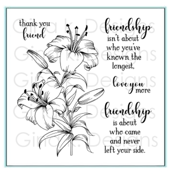 Gina K Designs THANK YOU FRIEND Clear Stamps 4358
