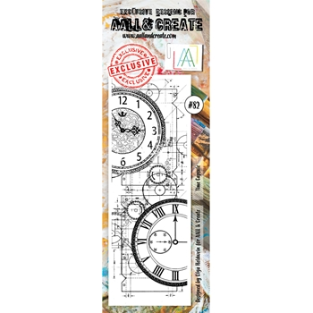 AALL & Create TIME CAPSULE BORDER 82 Clear Stamp Set aal00082