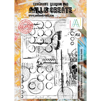 AALL & Create VINTAGE GRAFFITI 56 Clear Stamp Set aal00056