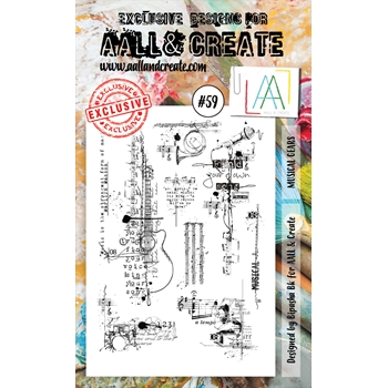 AALL & Create MUSICAL GEARS 59 Clear Stamp Set aal00059