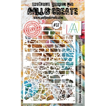AALL & Create CRACKED WALLS 1 Stencil 37 aal10037