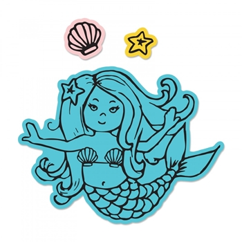 Sizzix Framelits MERMAID Combo Die and Stamp Set 662930