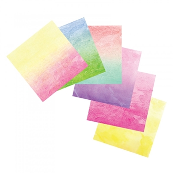 Sizzix WATERCOLOR WASHI 6x6 SHEETS 663040