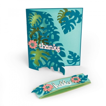 Sizzix TROPICOOL LEAVES Thinlits Die Set 662785