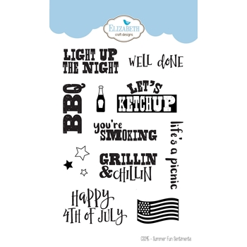 Elizabeth Craft Designs Clear Stamps SUMMER FUN SENTIMENTS cs095