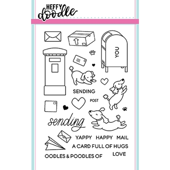 Heffy Doodle YAPPY HAPPY MAIL Clear Stamps hfd0052